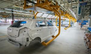 Fábrica da Chery, em Jacareí: marca adiou início de produção do New QQ para se ajustar à queda da demanda do mercado nacional