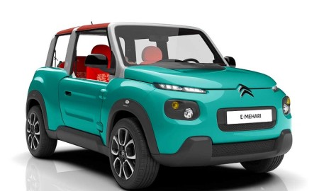E-Mehari, jipinho elétrico que é fruto da parceria entre a Citroën a gigante do setor energético francesa, Bolloré: 200 quilômetros de autonomia e recarga em oito horas