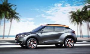 Nissan Kicks, ainda como carro-conceito, como foi apresentado no Salão Internacional do Automóvel de 2014: versão comercial chega no ano que vem