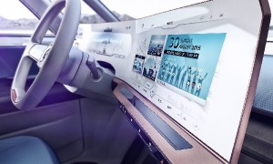 Painel de instrumentos do Budd-e, da Volkswagen: carro-conceito faz releitura para lá de futurista da antiga Kombi