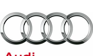 """Audi-Logo: Neues Corporate Design /Das neue Audi Markenlogo: Die Vier Ringe werden um den Markenkern """"Vorsprung durch Technik"""" erweitert."""