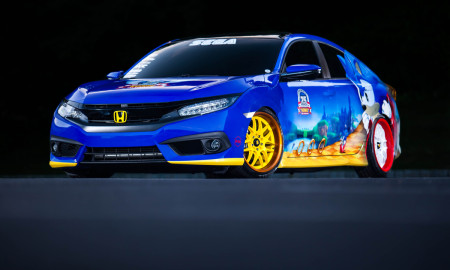 """Honda Debuts Custom-Designed """"Sonic Civic"""" at Comic-Con; Joins """"Sonic the Hedgehog™"""" and SEGA® in Celebrating the Iconic Game's 25th Anniversary"""