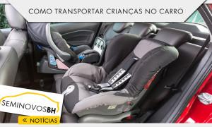 Como transportar crianças no carro