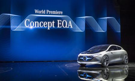 Das Concept EQA, das erste vollelektrische EQ-Konzeptfahrzeug von Mercedes-Benz im Kompaktsegment, steht für maximale Faszination in einem kompakten Fahrzeug.   The Concept EQA, the first fully-electric EQ concept vehicle by Mercedes-Benz in the compact segment, stands for a maximum of fascination in a compact vehicle.