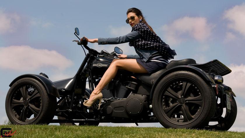 Harley de quatro rodas? Sim, existe...