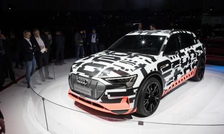 The Audi e-tron prototype at the International Motor Show Geneva 2018.