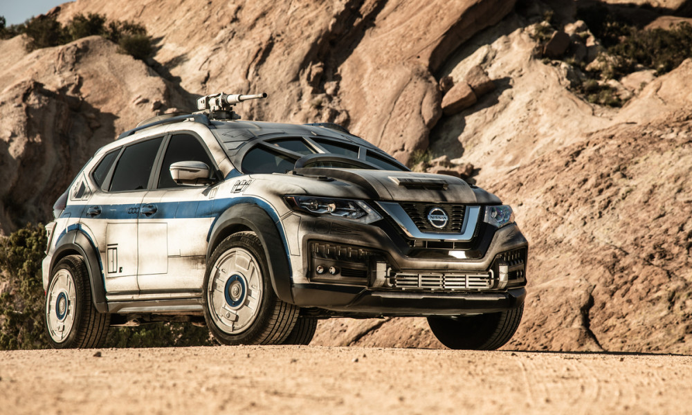"""At the Hollywood world premiere of """"Solo: A Star Wars Story,"""" Nissan unveiled this Rogue-based show vehicle that takes inspiration from the iconic Millennium Falcon."""