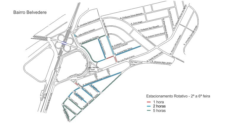Estacionamento Rotativo tem novas vagas no Belvedere e Floresta
