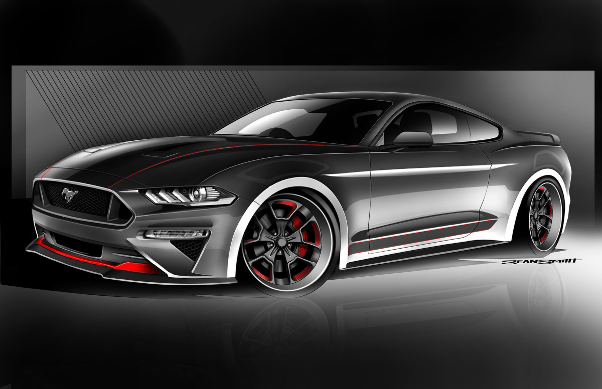 CGS Motorsports brings tasteful modifications to a 2018 Mustang GT with this clean interpretation of modern muscle. Large 410-millimeter rotors combine with six-piston Brembo calipers to deliver the stopping power necessary to properly tame this vicious steed. Nighttime driving in this supercharged Mustang is a well-illuminated affair thanks to unique LED lighting from a complete conversion by Diode Dynamics to Rigid undercar lighting. Everyone from night owls to track rats can prowl or stalk tracks in this stylishly sinister Mustang.