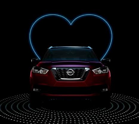 O amor está no ar... E ajuda a vender carros