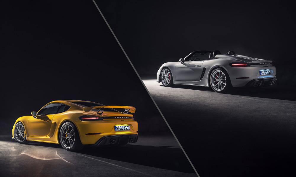 Porsche revela duas novas versões dos 'irmãos 718'